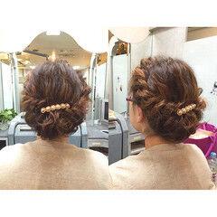 ヘアアレンジ ギブソンタック ツイスト 愛され ヘアスタイルや髪型の写真・画像
