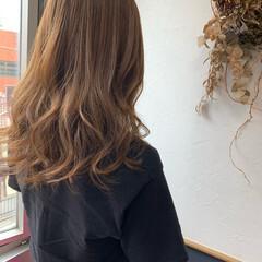 ミニボブ ショコラブラウン シアーベージュ ロング ヘアスタイルや髪型の写真・画像
