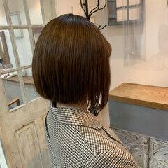 透明感カラー フェミニン ミディアム ミルクティーベージュ ヘアスタイルや髪型の写真・画像