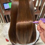 縮毛矯正 セミロング 髪質改善 髪質改善トリートメント