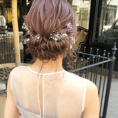 エレガント 大人可愛い ミディアム 福岡市 ヘアスタイルや髪型の写真・画像