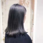 外国人風 ミディアム ハイライト 艶髪