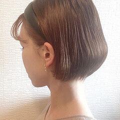 丸みショート ミニボブ ボブ ショート女子 ヘアスタイルや髪型の写真・画像