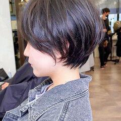 ナチュラル アンニュイほつれヘア ハンサムショート ショート ヘアスタイルや髪型の写真・画像