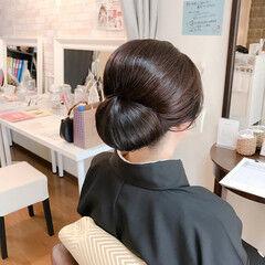 着物 和服 結婚式 エレガント ヘアスタイルや髪型の写真・画像