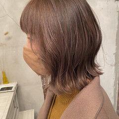 ウルフカット 切りっぱなしボブ モカブラウン ミニボブ ヘアスタイルや髪型の写真・画像