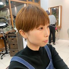 マッシュショート ショートマッシュ ナチュラル ショートヘア ヘアスタイルや髪型の写真・画像