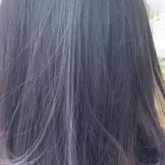 ホワイトハイライト バレイヤージュ ラベンダーグレージュ コントラストハイライト ヘアスタイルや髪型の写真・画像