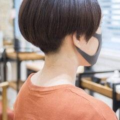 ハンサムショート 刈り上げ女子 モード 黒髪 ヘアスタイルや髪型の写真・画像