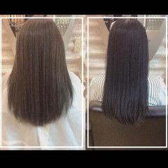 ナチュラル ロング 髪質改善トリートメント 社会人 ヘアスタイルや髪型の写真・画像