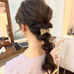 ヘアアレンジ ガーリー 玉ねぎ ロング ヘアスタイルや髪型の写真・画像