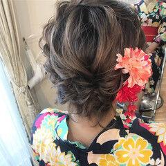 花火大会 ボブ ヘアアレンジ 和装 ヘアスタイルや髪型の写真・画像