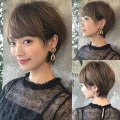 ショートボブ 田丸麻紀 ショート フェミニン ヘアスタイルや髪型の写真・画像