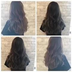 アッシュグレー ミディアム 大人ハイライト グラデーションカラー ヘアスタイルや髪型の写真・画像