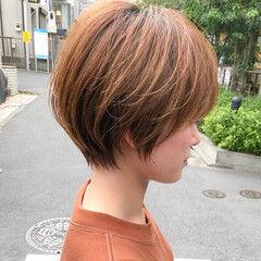 ショートヘア 大人かわいい ナチュラル デジタルパーマ ヘアスタイルや髪型の写真・画像