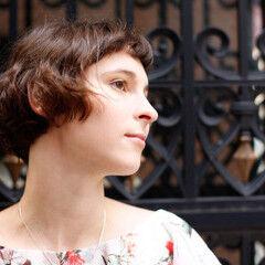モーブ ボブ モード フレンチセピアアッシュ ヘアスタイルや髪型の写真・画像