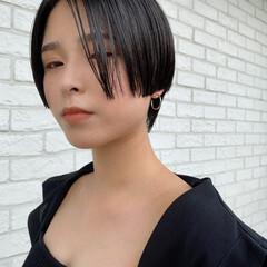 マッシュショート ハンサムショート ハンサム ショート ヘアスタイルや髪型の写真・画像