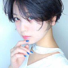 ショート 小顔ショート ショートマッシュ ショートヘア ヘアスタイルや髪型の写真・画像