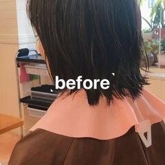 大人グラボブ マッシュMIX マッシュショート 大人ショート ヘアスタイルや髪型の写真・画像