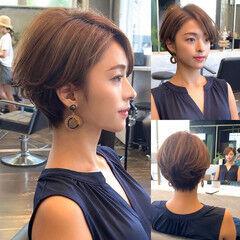 40代 ショート ショートヘア ナチュラル ヘアスタイルや髪型の写真・画像