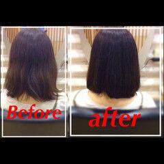 フェミニン 黒髪 ボブ ヘアアレンジ ヘアスタイルや髪型の写真・画像