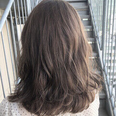 セミロング 外国人風カラー フェミニン エフォートレス ヘアスタイルや髪型の写真・画像
