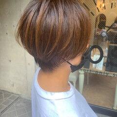 髪質改善 ショートヘア ショート 縮毛矯正 ヘアスタイルや髪型の写真・画像