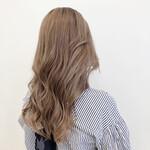 ロング ミルクティーグレージュ ミルクティーベージュ 巻き髪