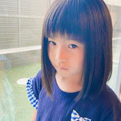 キッズカット ナチュラル 女の子 キッズ ヘアスタイルや髪型の写真・画像