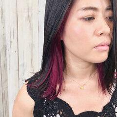 エレガント カシスレッド レッドカラー トレンド ヘアスタイルや髪型の写真・画像