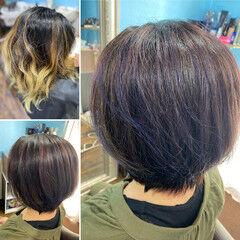 ボブ ショートヘア 髪質改善 コンサバ ヘアスタイルや髪型の写真・画像