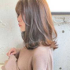 アンニュイほつれヘア 大人かわいい ガーリー ミディアム ヘアスタイルや髪型の写真・画像