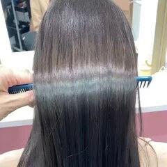 セミロング 可愛い インナーカラー ナチュラル ヘアスタイルや髪型の写真・画像