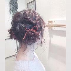 アンニュイほつれヘア ヘアアレンジ 外国人風 ツインお団子 ヘアスタイルや髪型の写真・画像