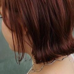 ショートボブ イルミナカラー ガーリー ミニボブ ヘアスタイルや髪型の写真・画像