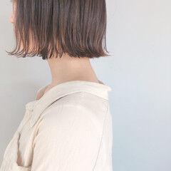 ミルクティーグレージュ ミニボブ ナチュラル ショートヘア ヘアスタイルや髪型の写真・画像