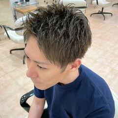 メンズ メンズカラー スモーキーカラー ショート ヘアスタイルや髪型の写真・画像