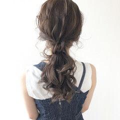 大人可愛い ロング ローポニー ゆるふわセット ヘアスタイルや髪型の写真・画像
