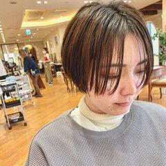 小顔ショート ハンサムショート モード コンパクトショート ヘアスタイルや髪型の写真・画像