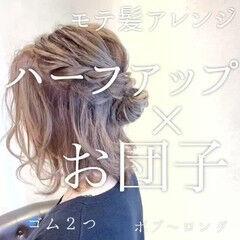 ナチュラル 簡単スタイリング スタイリング動画 簡単ヘアアレンジ ヘアスタイルや髪型の写真・画像