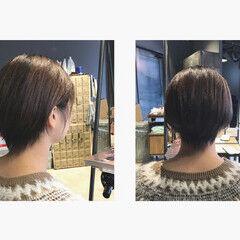 ショートヘア ショートバング 抜け感 大人ショート ヘアスタイルや髪型の写真・画像