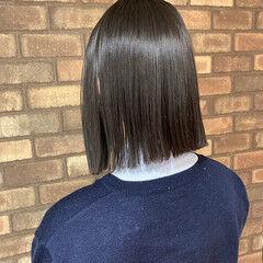 ボブ イルミナカラー 艶髪 透明感 ヘアスタイルや髪型の写真・画像