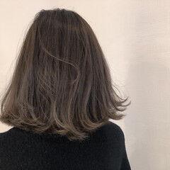 デート ハンサムボブ ミディアム ナチュラル ヘアスタイルや髪型の写真・画像