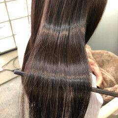 ストレート 最新トリートメント エレガント ロング ヘアスタイルや髪型の写真・画像