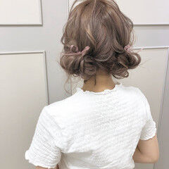 ガーリー ヘアアレンジ ミルクティー ミルクティーベージュ ヘアスタイルや髪型の写真・画像