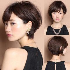 30代 ガーリー 前髪 ショート ヘアスタイルや髪型の写真・画像