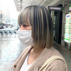 ブリーチカラー ナチュラル ブリーチ ホワイトブリーチ ヘアスタイルや髪型の写真・画像