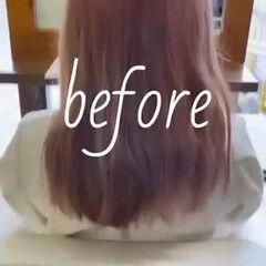 ハイライト パープルアッシュ グラデーションカラー ブリーチカラー ヘアスタイルや髪型の写真・画像