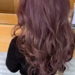 ダブルカラー ロング グレージュ ラベンダーグレージュ ヘアスタイルや髪型の写真・画像