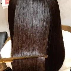 ロング 髪質改善トリートメント 髪質改善カラー ナチュラル ヘアスタイルや髪型の写真・画像